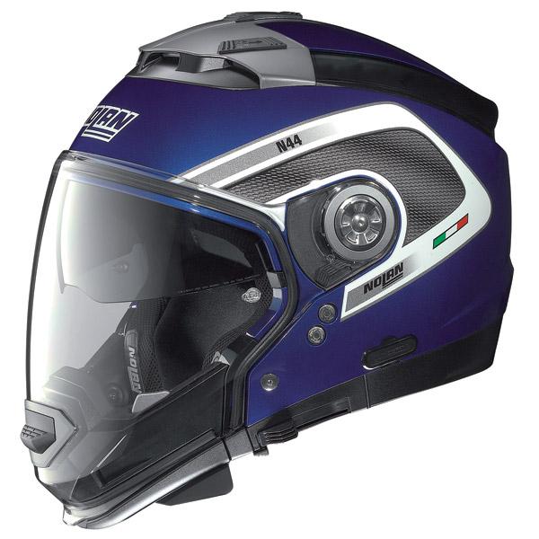 Nolan N44 Tech N-Com crossover helmet cayman blue omol. P-J