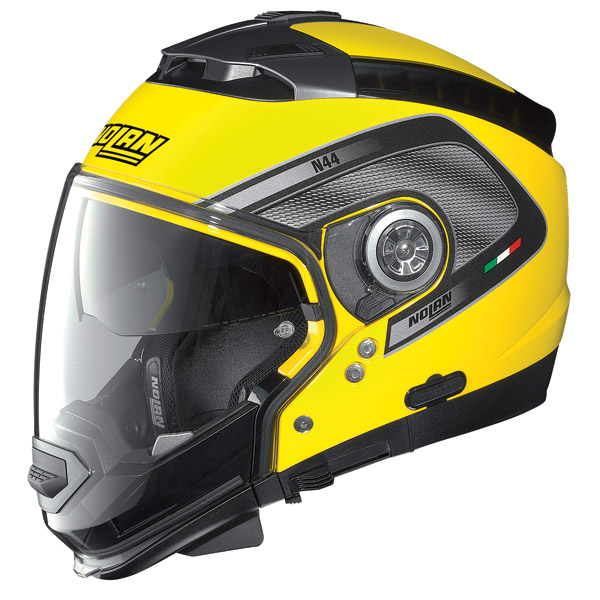 Casco moto Nolan N44 Tech N-Com Cab Yellow omol. P-J