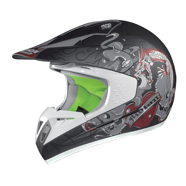 Casco moto cross Nolan N52 Dragon flat lava grey