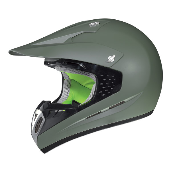 Casco moto off-road Nolan N52 Smart verde militare opaco