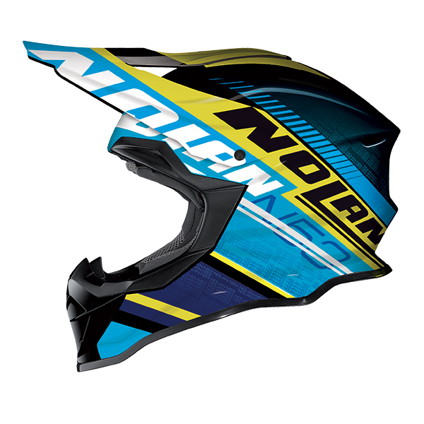 Nolan N53 Flaxy cross helmet Black Blue Yellow