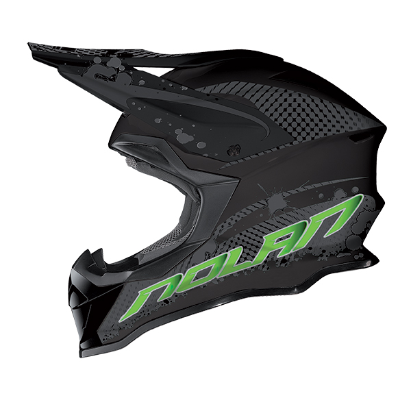 Nolan N53 Stain cross helmet Black Green