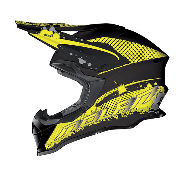 Nolan N53 Stain cross helmet Black Yellow