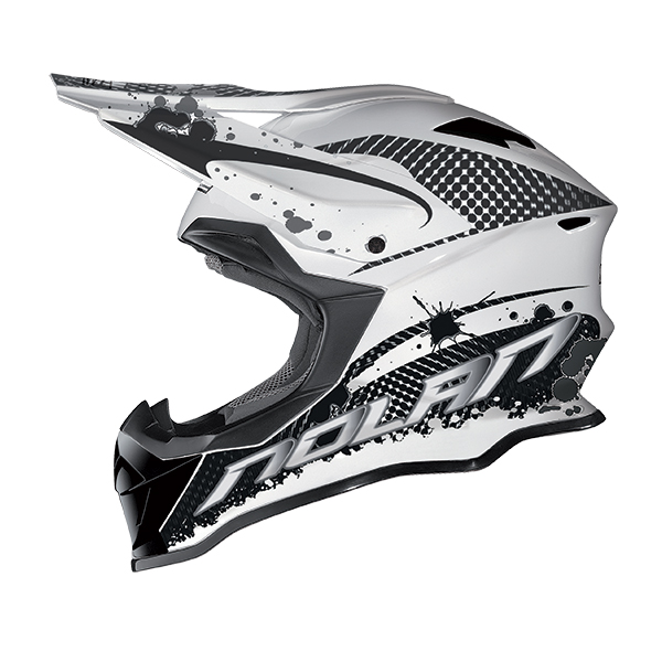 Nolan N53 Stain cross helmet Black White