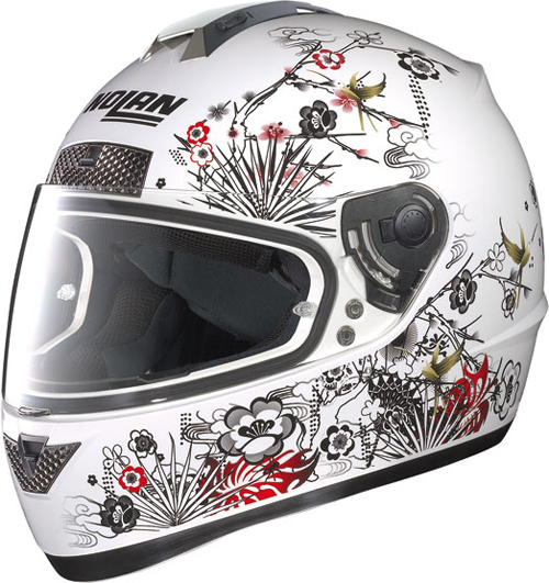 Casco moto integrale Nolan N63 Oriental bianco lucido