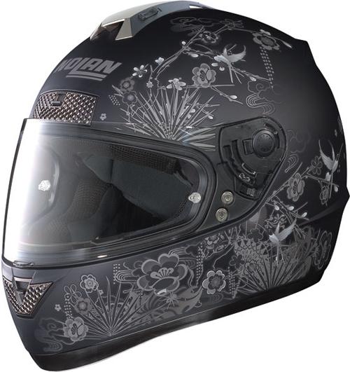 Casco moto integrale Nolan N63 Oriental nero opaco