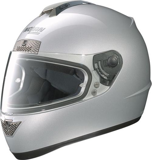 Casco moto integrale Nolan N63 Classic platinum silver