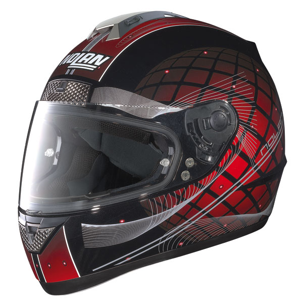 Casco moto integrale Nolan N63 Link nero-rosso