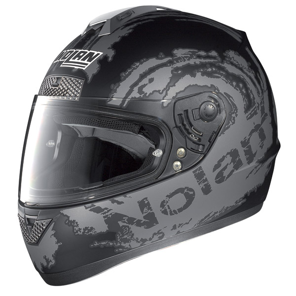 Casco moto Nolan N63 Sketch flat black-grey
