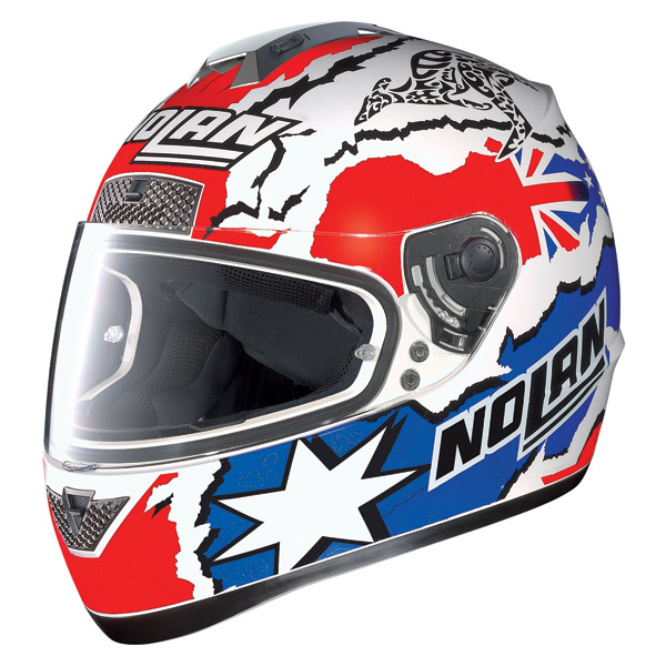 Nolan N63 Gemini Replica Stoner N-Com metal white 60 helmet