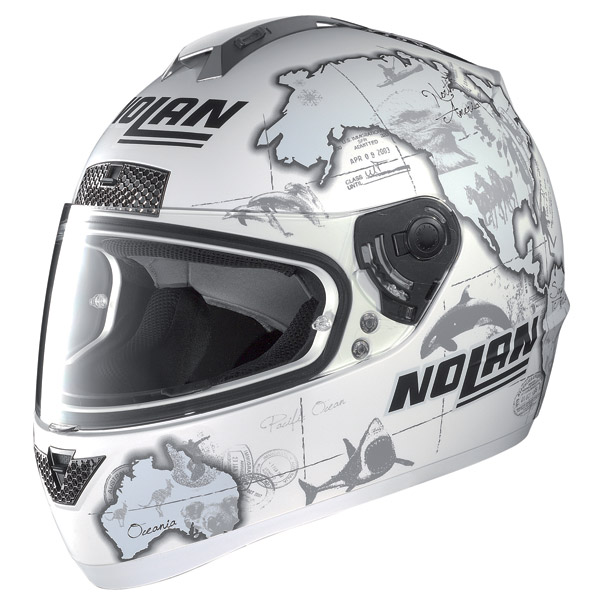 Nolan N63 Gemini Replica C.Checa flat white helmet