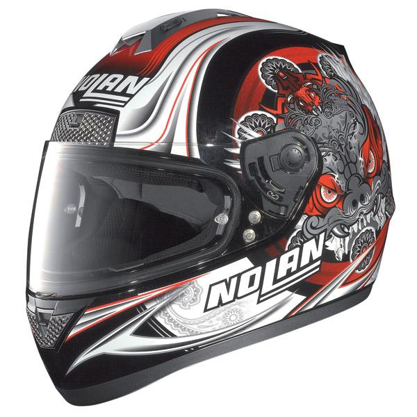Nolan N63 Fearful full-face helmet metal black-red