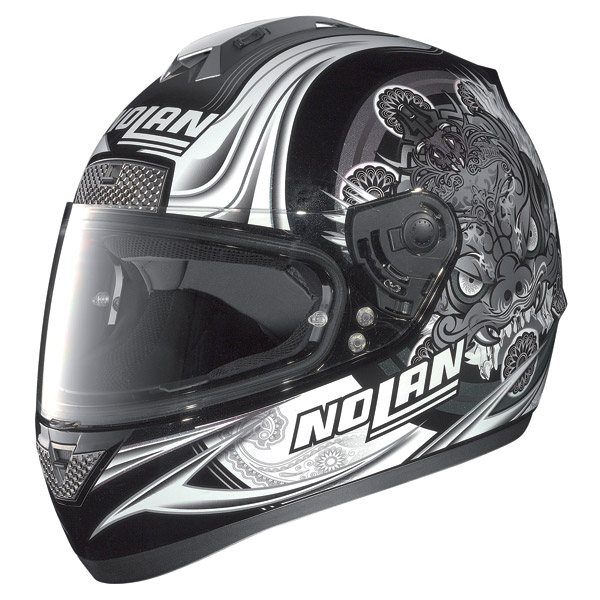 Casco moto Nolan N63 Fearful metal black-grey