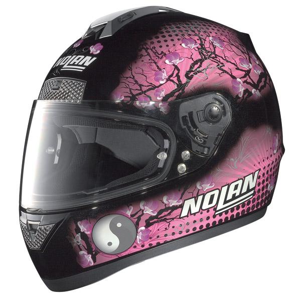 Nolan N63 Flowers full-face helmet metal black pink