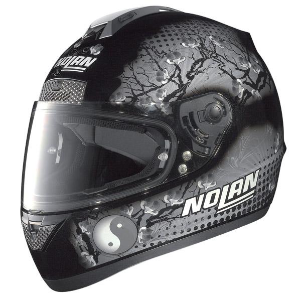Casco moto Nolan N63 Flowers metal black-grigio