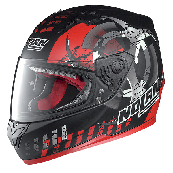 Nolan N64 Enerwin full face helmet Matte Black Red