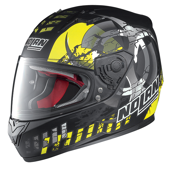 Nolan N64 Enerwin full face helmet Matte Black Yellow