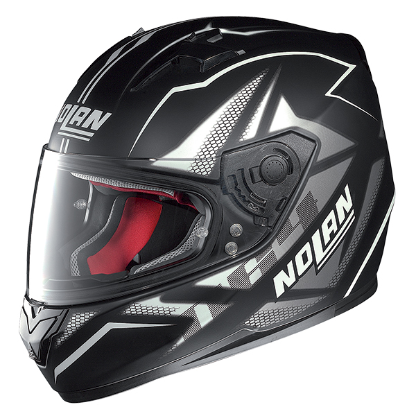 Nolan N64 Flazy full face helmet Black White
