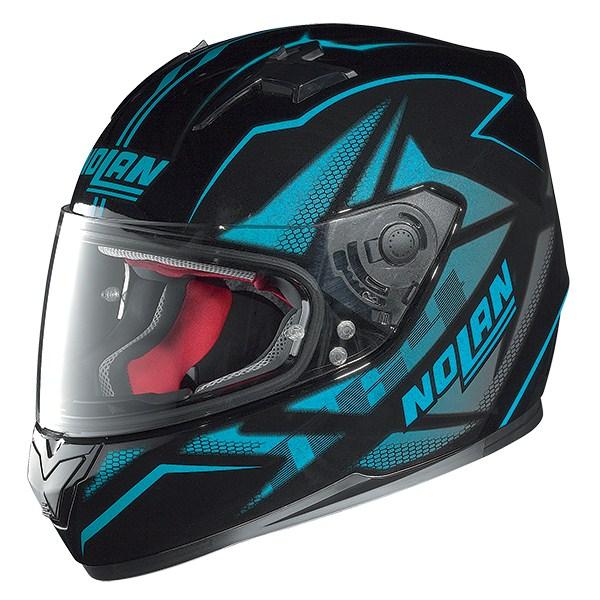 Nolan N64 Flazy full face helmet Black Blue