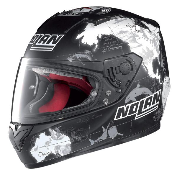 Casco moto integrale Nolan N64 Gemini Replica C.Checa nero opaco