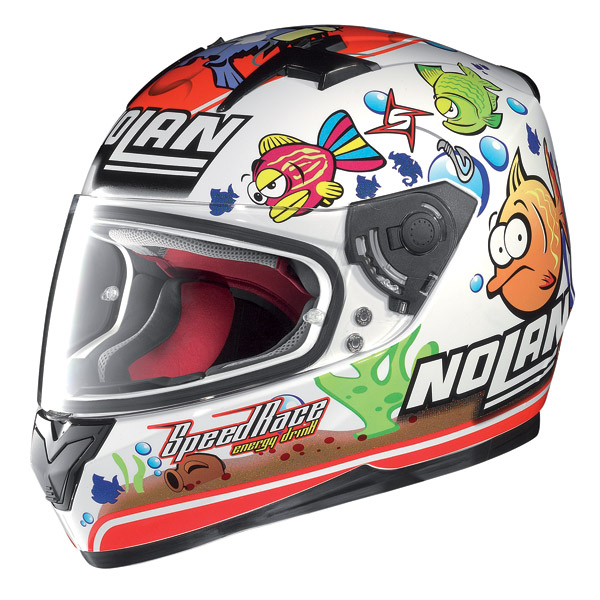 Helmet full-face Nolan N64 Gemini Replica Melandri Aq  white