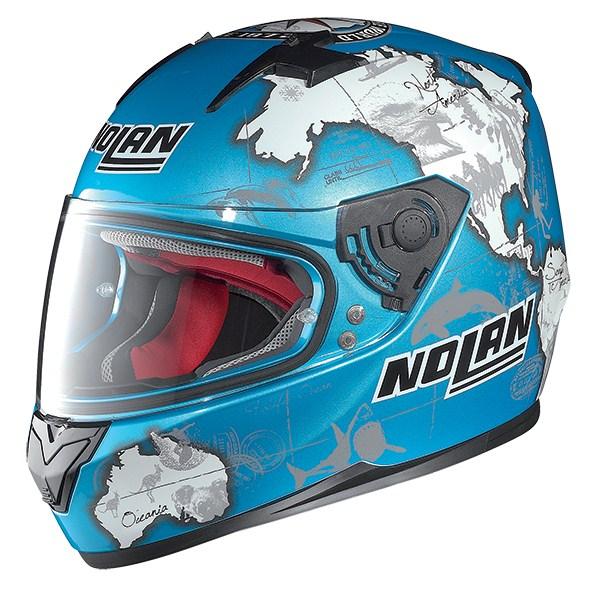Nolan N64 Gemini Replica Checa full face helmet Blue White