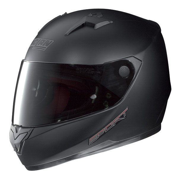 Casco moto integrale Nolan N64 Sport nero opaco