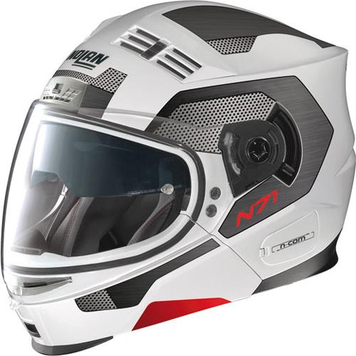 NOLAN N71 S2 N-com flip-up helmet col. bianco opaco