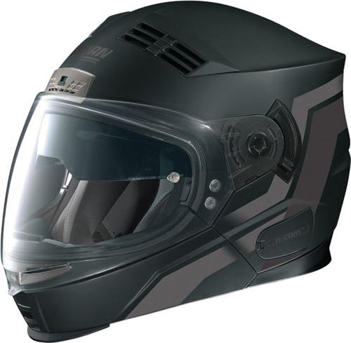 Casco moto Nolan N71 Motion mentoniera staccabile nero opaco