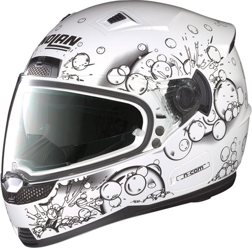 NOLAN N85 Frizzy N-Com  full-face helmet col. metal white