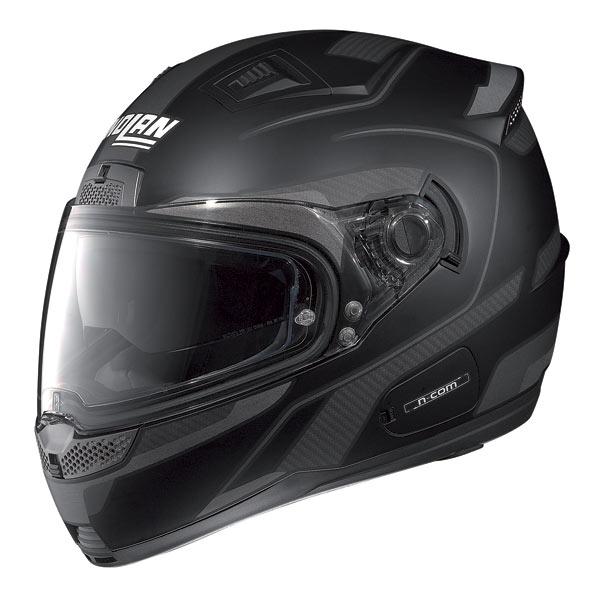 Casco moto Nolan N85 Virage N-com nero opaco