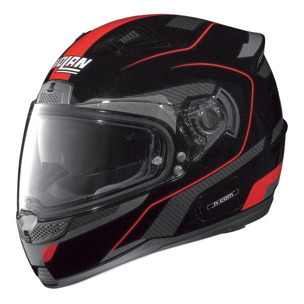 Nolan N85 Virage N-com fullface helmet black-red