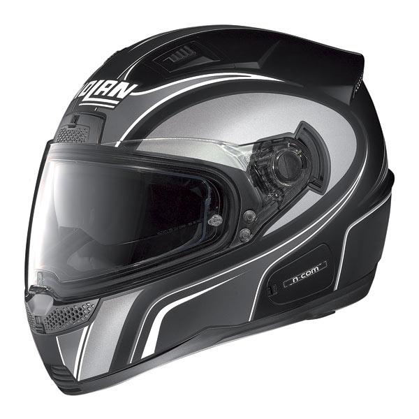 Casco moto Nolan N85 Tipp N-com nero opaco-grigio
