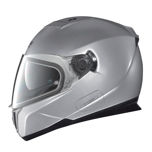 Casco moto Nolan N86 Classic N-Com platinum silver