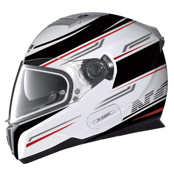 Nolan N86 Flow N-Com metal white full face helmet