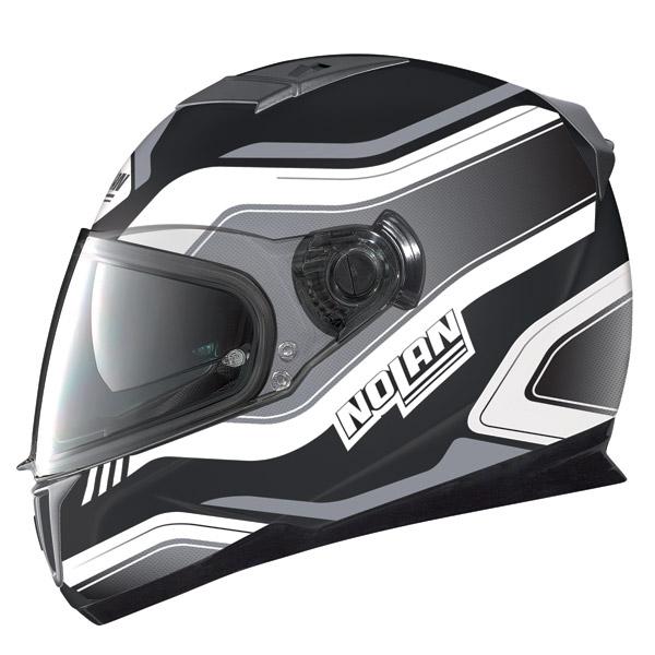 Nolan N86 Deep flat black -white full face helmet