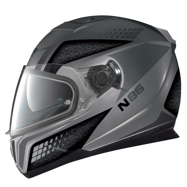 Nolan N86 Burn Out flat arctic grey full face helmet