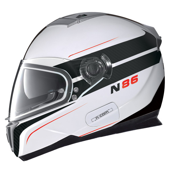 Casco moto Nolan N86 Rapid N-Com metal white