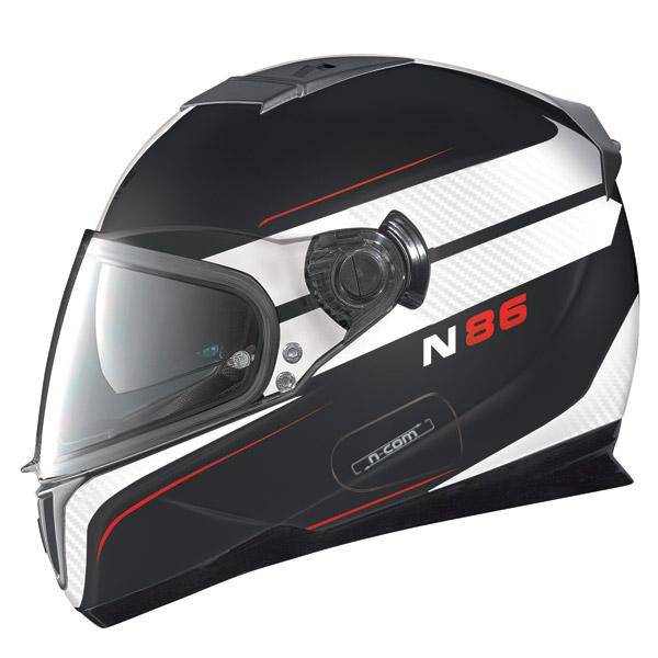 Casco moto Nolan N86 Rapid N-Com flat black