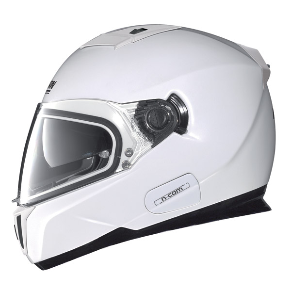 Casco moto Nolan N86 Classic N-Com metal white