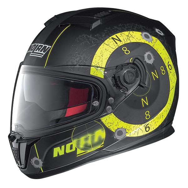 Nolan N86 Axye full face helmet Matte Black Yellow