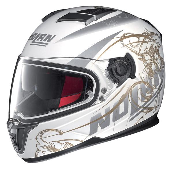 Motorcycle Helmet full-face Nolan N86 Bloom Metal White