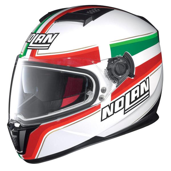 Casco moto integrale Nolan N86 Italy Bianco