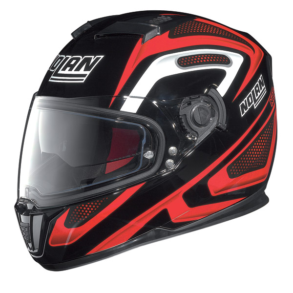 Helmet full-face Nolan N86 Overtaking Glossy Black-Red