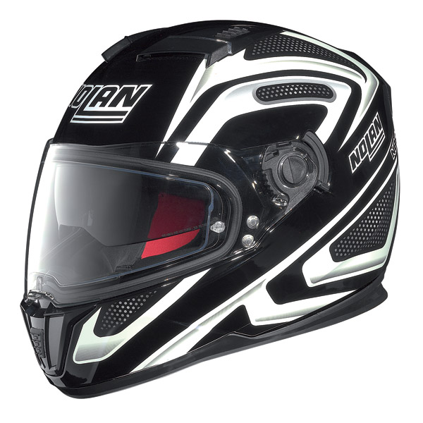 Helmet full-face Nolan N86 Overtaking Glossy Black-White
