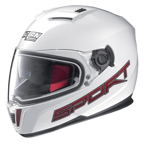 Motorcycle Helmet full-face Nolan N86 Sport metal white