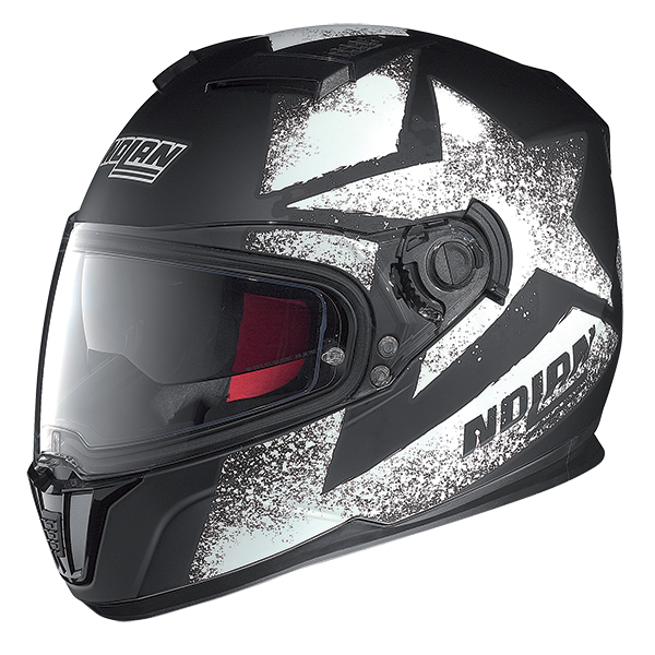 Nolan N86 Stam full face helmet Matte Black White