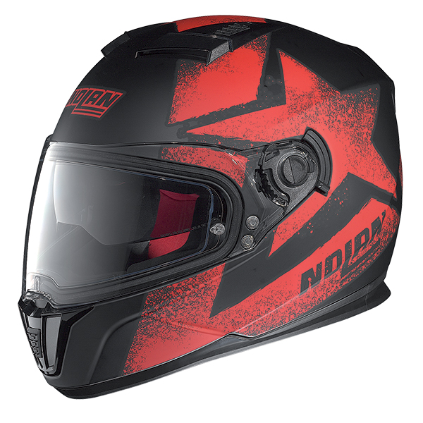 Nolan N86 Stam full face helmet Matte Black Red