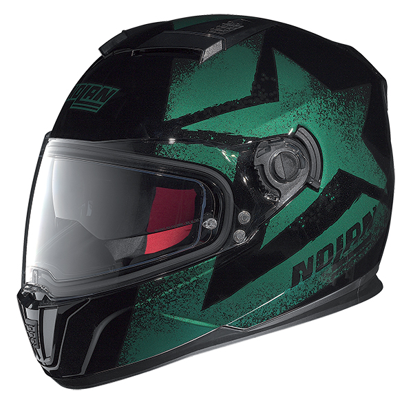 Nolan N86 Stam full face helmet Matte Black Green