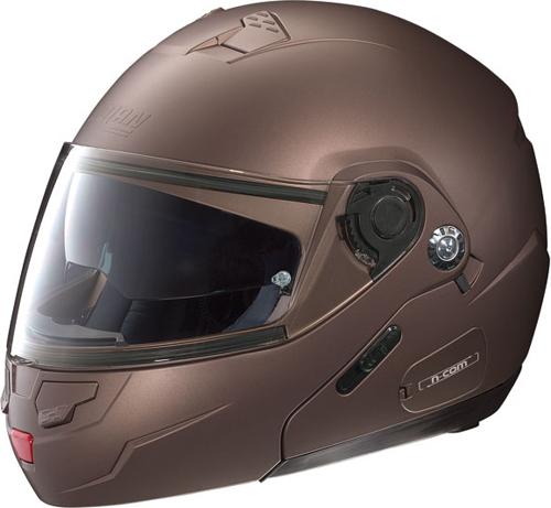 NOLAN N90 Classic N-Com flip-up helmet col. flat moka